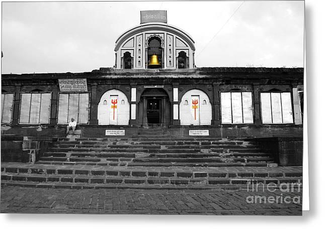 Temple At India Greeting Card