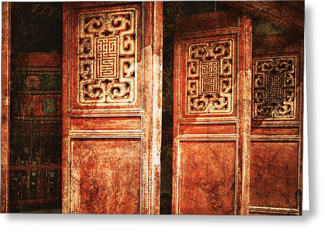 Temple Door Greeting Card by Skip Nall