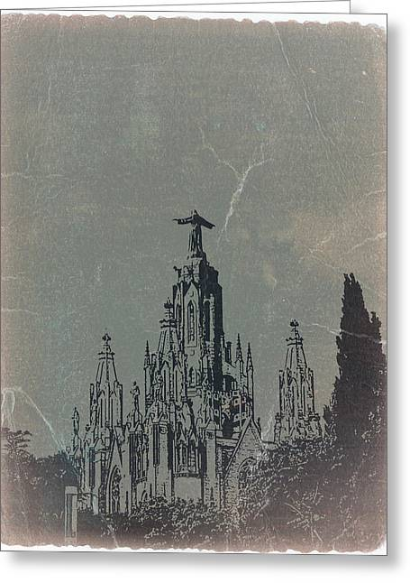 Temple Expiatory Greeting Card by Naxart Studio