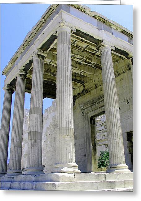 Temple Of Athena Entrance Greeting Card