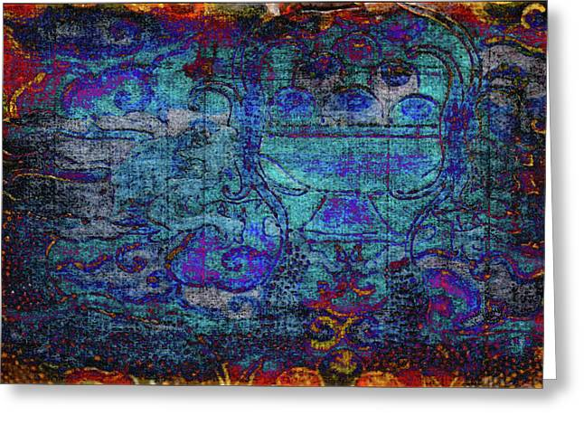 Temple Tapestry Greeting Card
