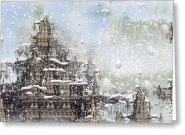 Temples Of The North Greeting Card by Phil Sadler
