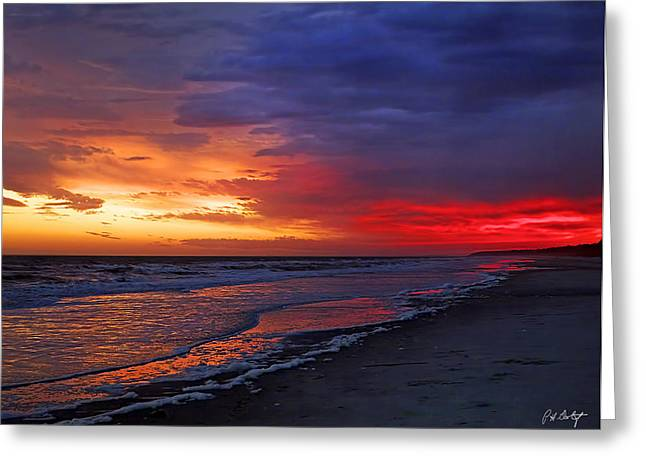 Ten Minutes On The Beach  Greeting Card by Phill Doherty