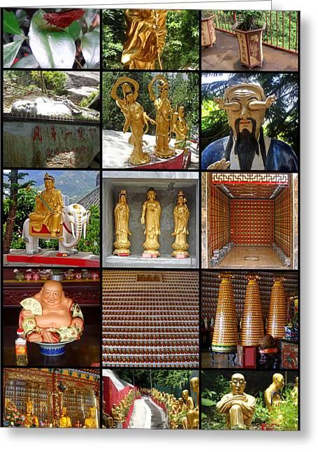 Ten Thousand Buddhas Monastery Greeting Card by Roberto Alamino