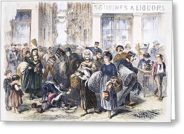 Tenement Life, 1871 Greeting Card