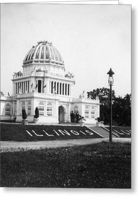 Tennessee Centennial In Nashville - Illinois Building - C 1897 Greeting Card by International  Images