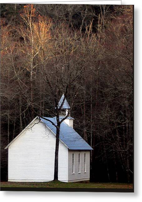 Tennessee Mountain Church Greeting Card by Skip Willits