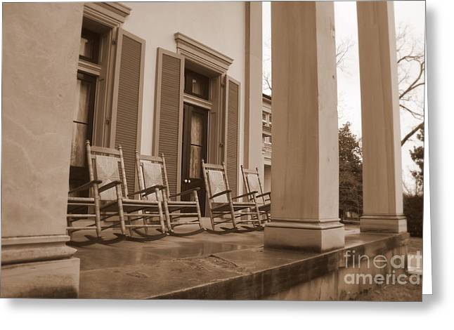 Tennessee Plantation Porch Greeting Card