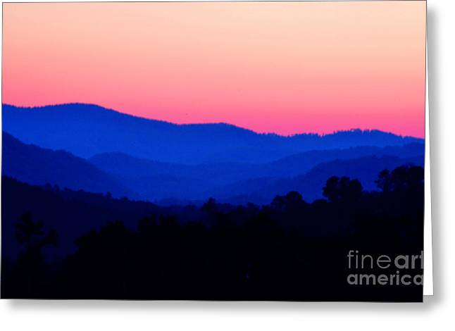 Tennessee Sunset Greeting Card by EGiclee Digital Prints