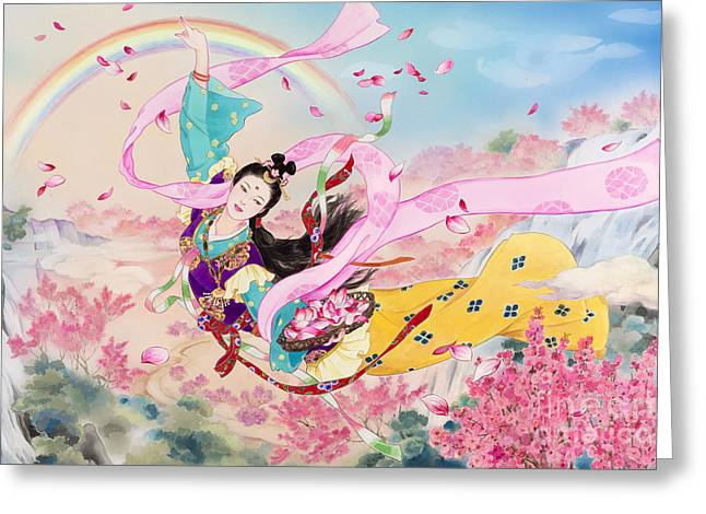 Tennyo Greeting Card by Haruyo Morita