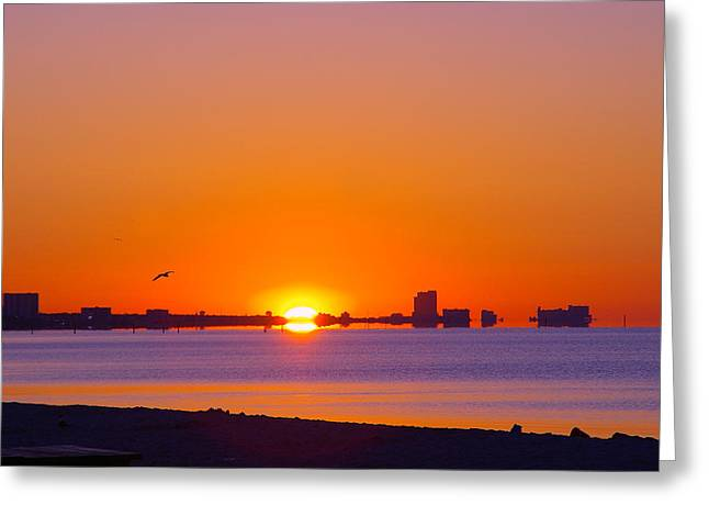 Greeting Card featuring the photograph Tequila Sunrise by Brian Wright