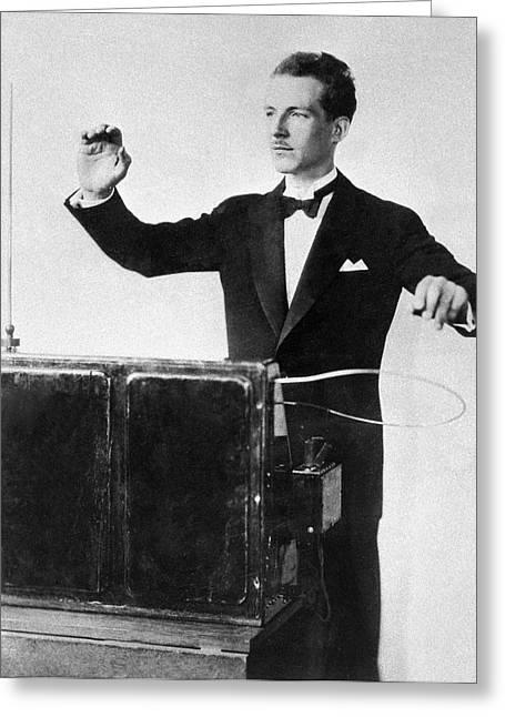 Termen And His Termenvox, Ussr, 1932 Greeting Card
