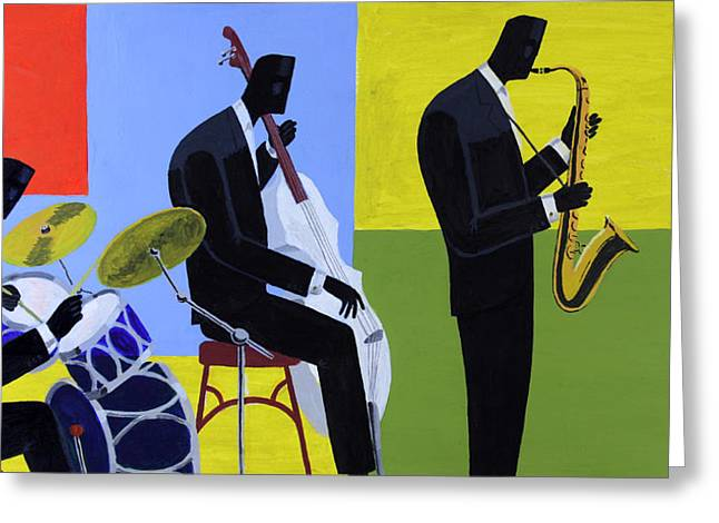 Terrace Jam Session Greeting Card