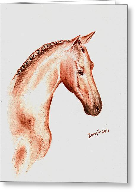 Terracota Bronco Greeting Card by Remy Francis