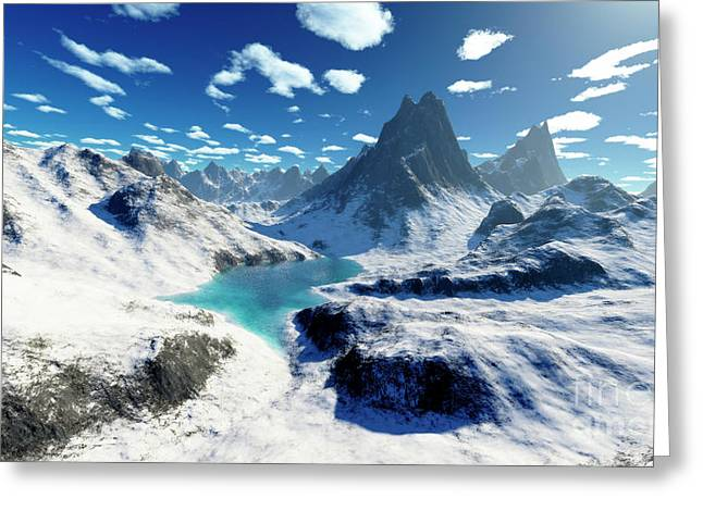 Terragen Render Of An Imaginary Greeting Card by Rhys Taylor