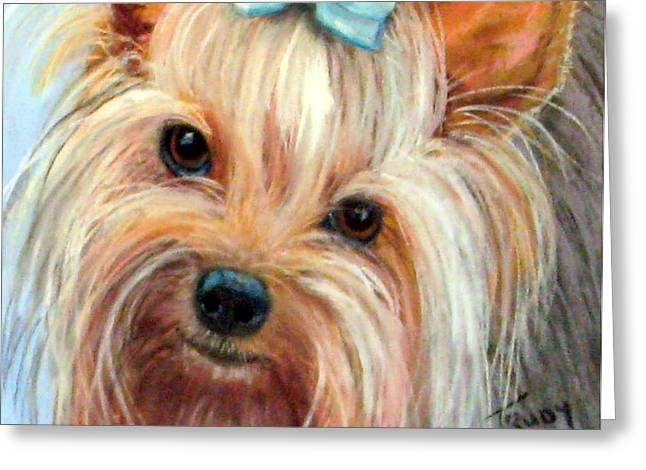Tessa Greeting Card by Trudy Morris