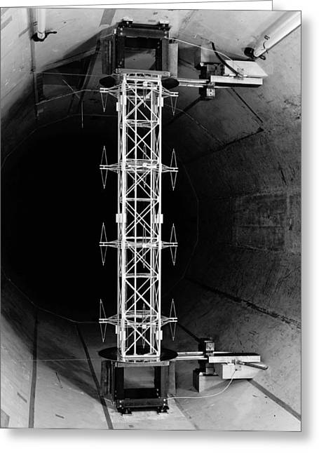 Testing Transmission Tower Section, 1955 Greeting Card by National Physical Laboratory (c) Crown Copyright