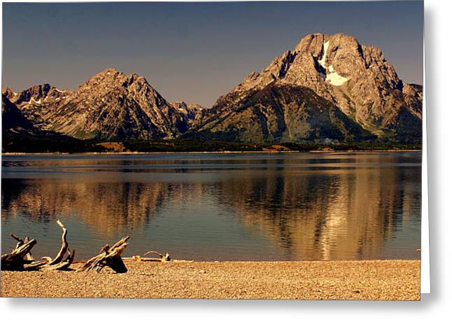 Greeting Card featuring the photograph Teton Panoramic by Marty Koch