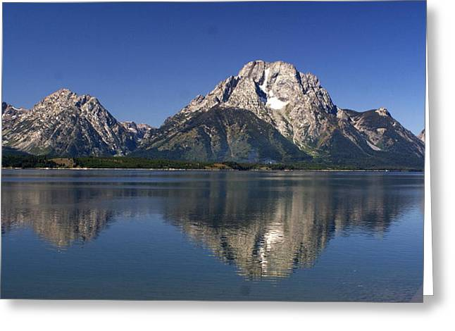 Teton Panoramic View Greeting Card by Marty Koch
