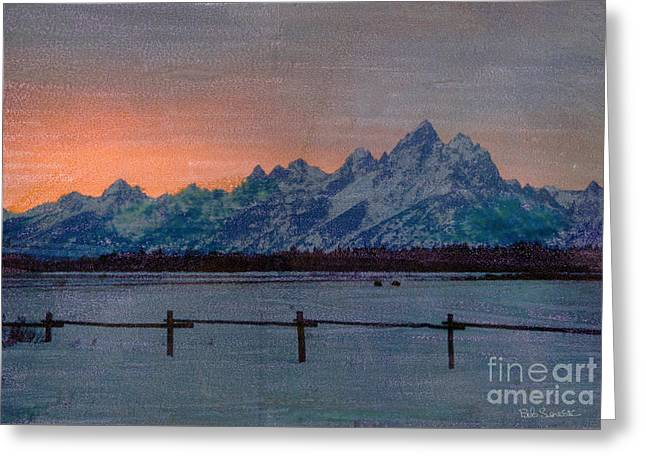 Teton Sunset Greeting Card