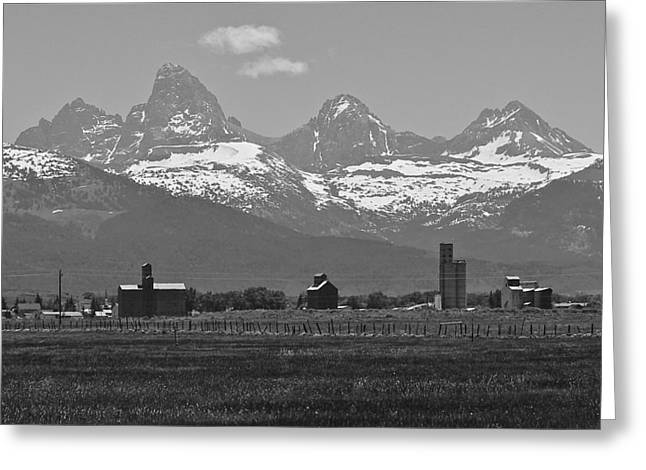 Greeting Card featuring the photograph Tetonia Grain Elevators by Eric Tressler