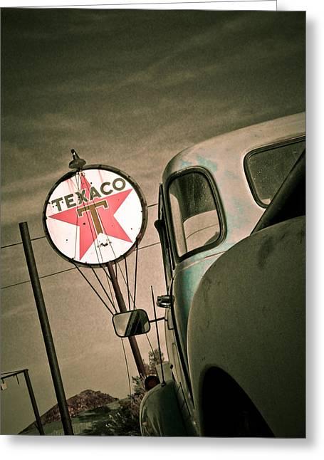 Texaco Greeting Card by Merrick Imagery