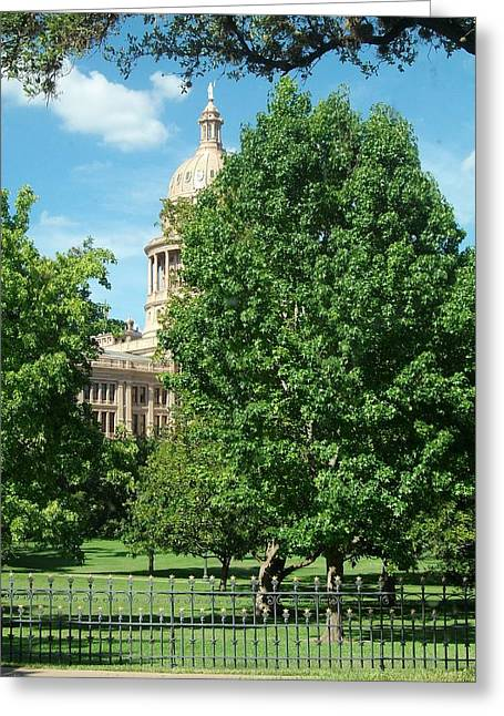 Texas Capitol Building In Austin Greeting Card