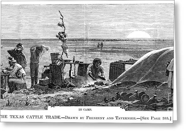 Texas Cattle Trade, 1874 Greeting Card by Granger