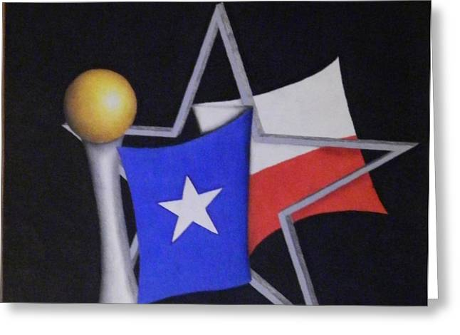 Texas Greeting Card by Jose Benavides