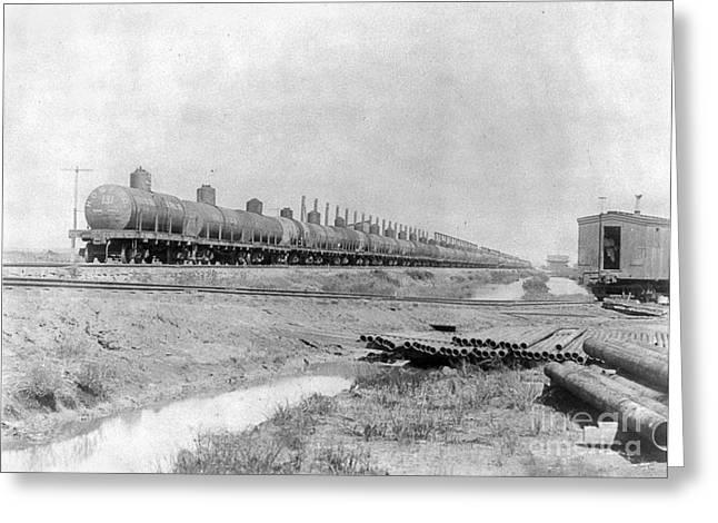 Texas: Oil Tank Cars, C1901 Greeting Card