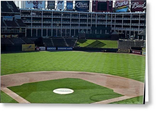 Texas Stadium Greeting Card by Malania Hammer