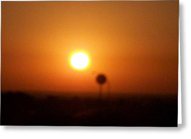 Texas Sunrise Greeting Card by Adam Cornelison