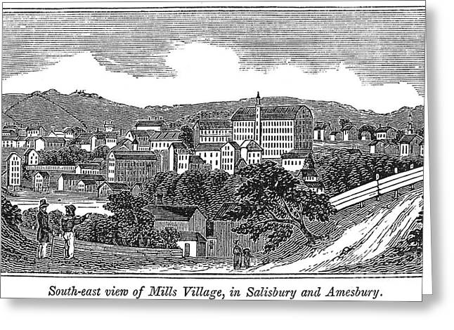 Textile Mills, 1844 Greeting Card by Granger