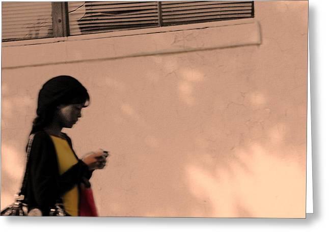 Texting Greeting Card by Viktor Savchenko