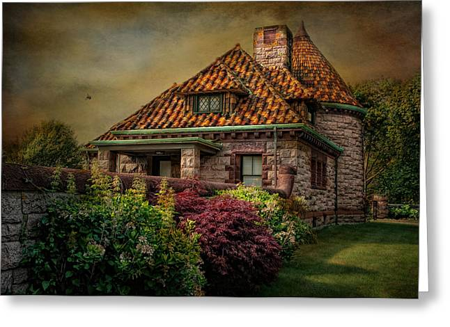 Textured Retreat Greeting Card by Robin-Lee Vieira