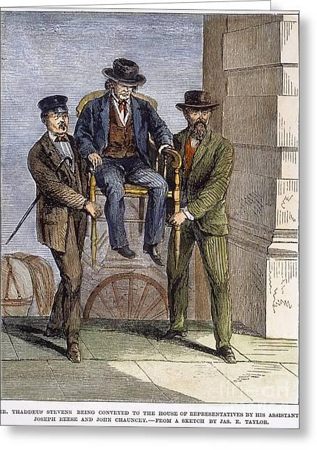 Thaddeus Stevens, 1868 Greeting Card by Granger