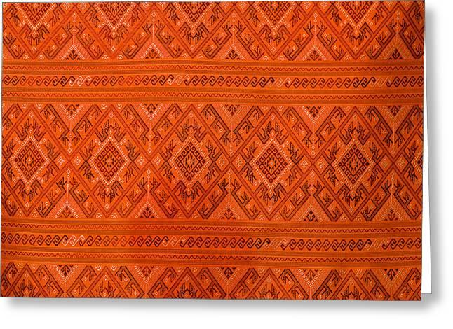 Thai Patterns. Greeting Card by Chatchawin Jampapha