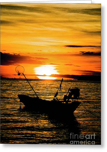Thai Sunset Greeting Card by Inhar Mutiozabal