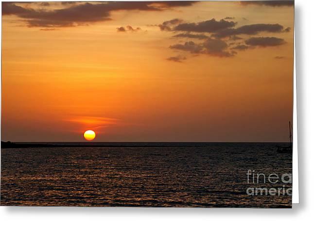 Thai Sunset Greeting Card by Kaye Menner