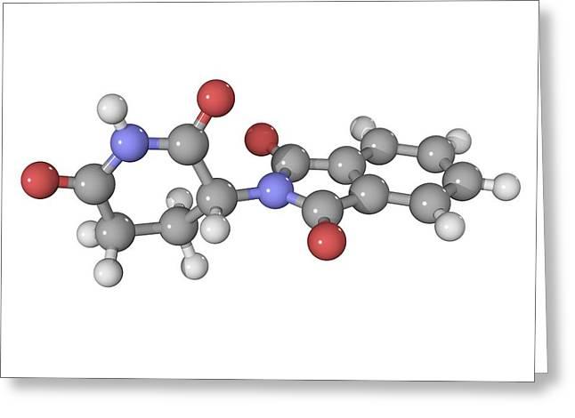 Thalidomide Drug Molecule Greeting Card by Laguna Design