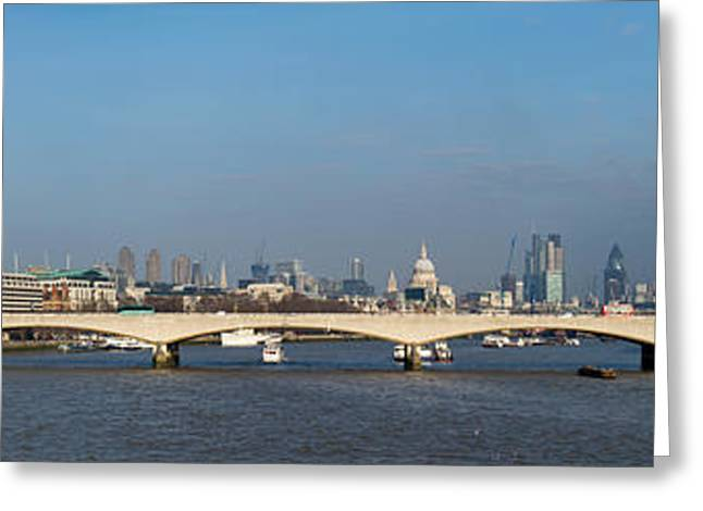 Thames Panorama Weather Front Clearing Greeting Card