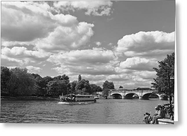 Greeting Card featuring the photograph Thames River Cruise by Maj Seda