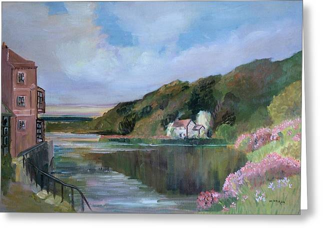 Thames River England By Mary Krupa Greeting Card