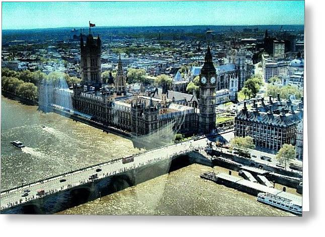 Thames River, View From London Eye | Greeting Card by Abdelrahman Alawwad