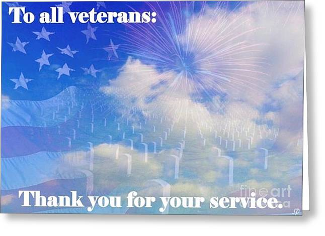 Thank A Vet Greeting Card by Laurence Oliver
