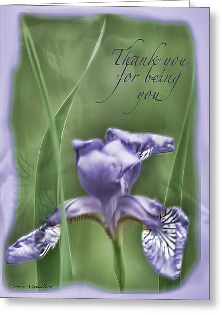 Thank You For Being You Greeting Card by Debra     Vatalaro