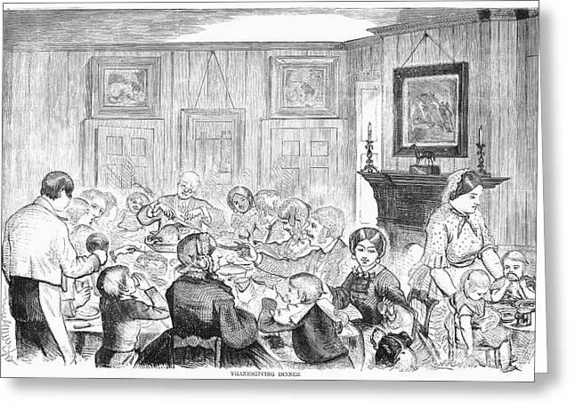Thanskgiving Dinner, 1857 Greeting Card by Granger