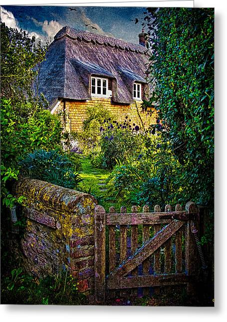 Thatched Roof Country Home Greeting Card by Chris Lord
