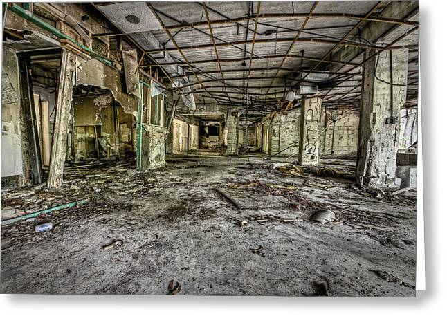 The Abandoned Building Greeting Card by Noah Katz