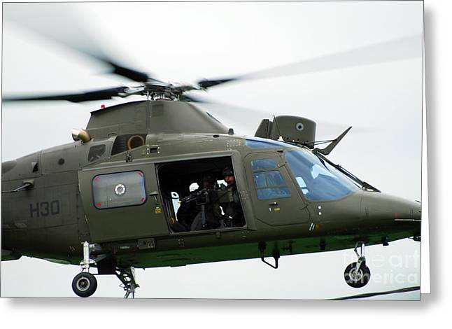 The Agusta A109, Used By The Belgian Greeting Card by Luc De Jaeger
